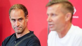"""Aufkommende Trainerdiskussion? """"Da kann ich nur den Kopf schütteln"""", sagt Oliver Mintzlaff."""