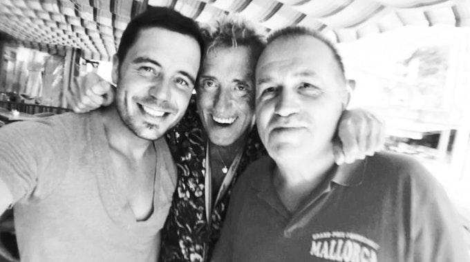 Selfie von Lorenz Büffel, Volker Damm und Michael Pioneck.
