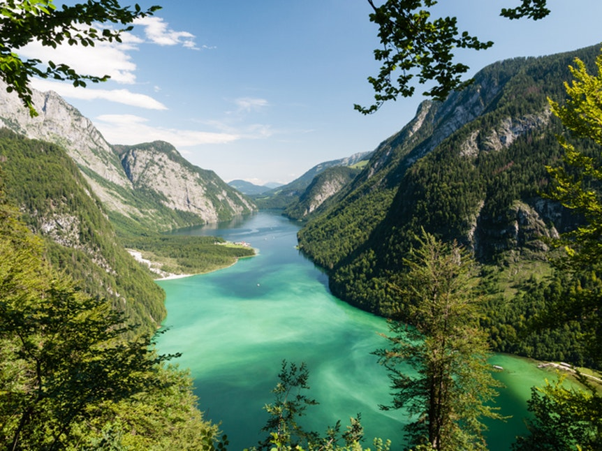 Seen in Deutschland: Stille am Königssee in Bayern.