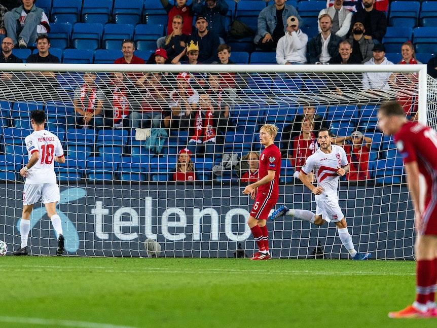Reece Styche trifft gegen Norwegen.