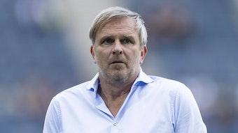Sky-Experte Dietmar Hamann, auf diesem Foto am 13. August 2021 im Gladbacher Borussia-Park zu sehen.