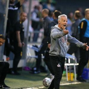 Mark Zimmermann trainiert die U21 des 1. FC Köln gegen Alemannia Aachen.