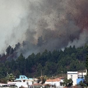 Der Mount Cumbre Vieja auf La Palma ist am Sonntag (19. September) ausgebrochen.