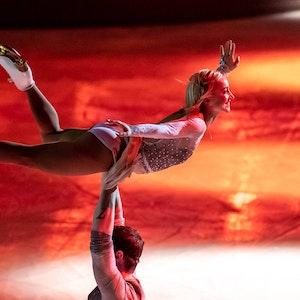 Aljona Savchenko und Bruno Massot bei der Eiskunstlaufgala in Aktion