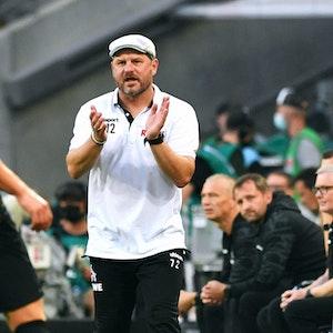 Steffen Baumgart während des Spiels zwischen dem 1. FC Köln und RB Leipzig