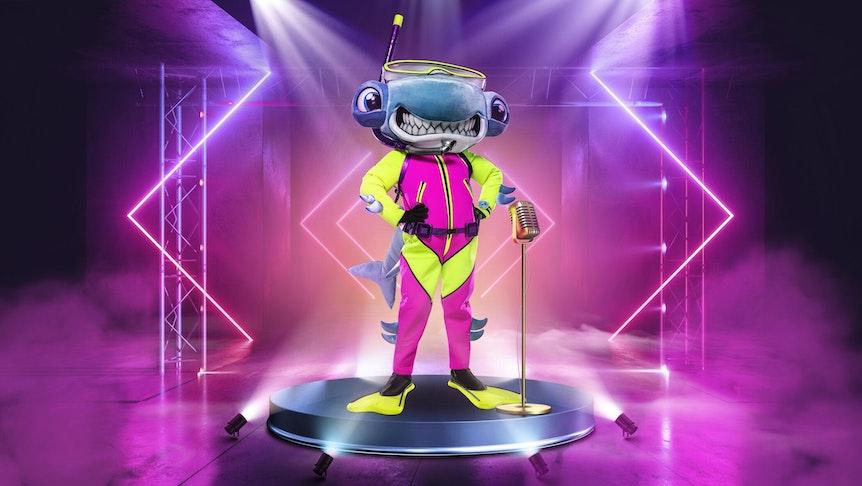 """Der Hammerhai ist eines der Kostüme bei der ProSieben-Show """"The Masked Singer"""" ab 16.10.2021"""