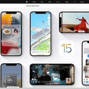 Ein stark überarbeitetes Facetime und viele weitere Neuerungen hat iOS 15 zu bieten. Etwas gewöhnungsbedürftig dürfte die veränderte Browser-Leiste bei Safari sein.