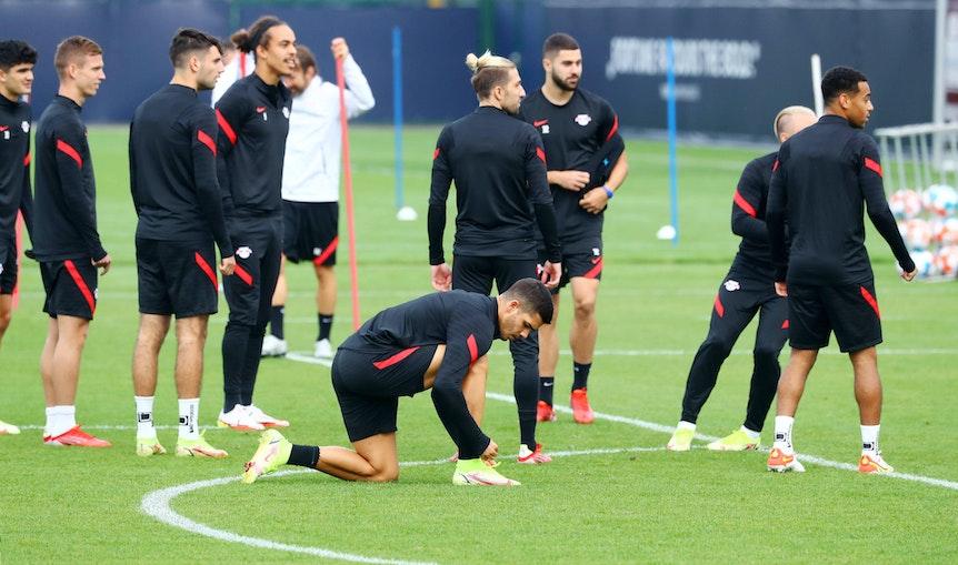 Am Dienstag stand die Dreierkette auf dem Trainingsplan bei RB Leipzig.