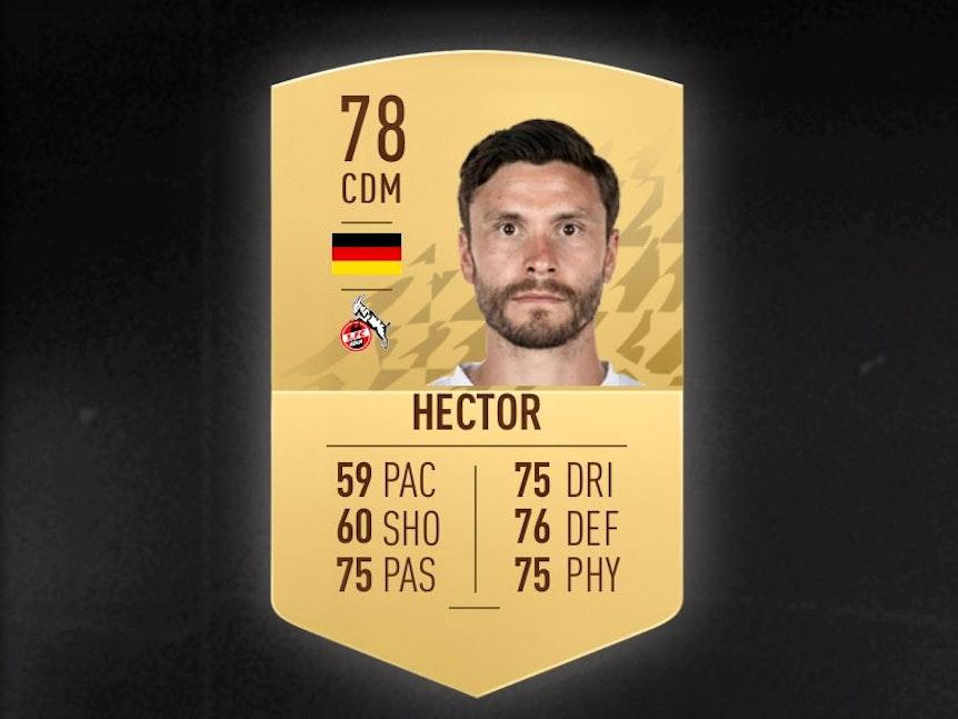 Die Fifa-22-Karte von Jonas Hector hat eine 78er-Bewertung.