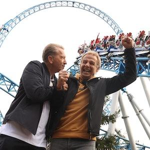 Andreas Köpke und Jürgen Klinsmann beim Treffen der Europameister von 1996 im Europapark in Rust.