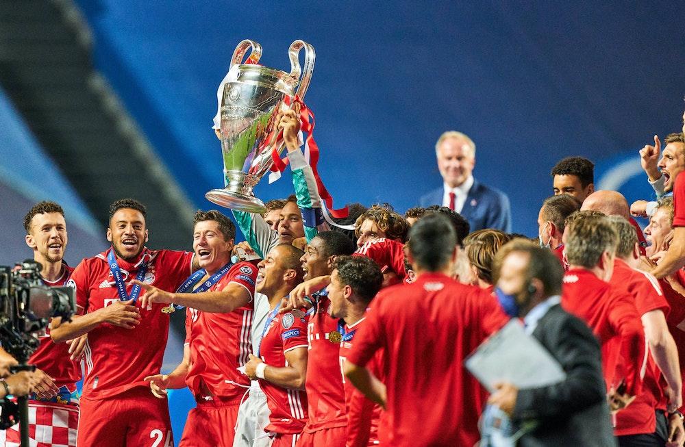 Der FC Bayern München feiert den Gewinn der Champions League