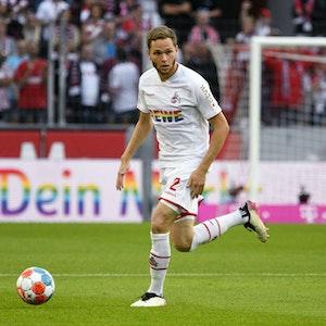 FC-Spieler Benno Schmitz während des Spiels gegen RB Leipzig.