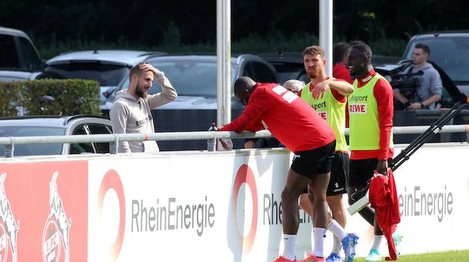 Dominick Drexler besuchte das Training des 1. FC Köln.