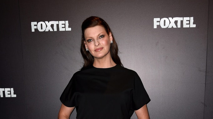 Auf ihrem Instagram-Profil erklärt Linda Evangelista, hier 2015 bei einer Foxtel-Veranstaltung in Sydney, weshalb es in letzter Zeit so stumm um das Model war.