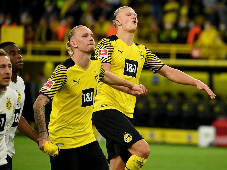 Marius Wolf und Erling Haaland spielen für Borussia Dortmund gegen Union Berlin.