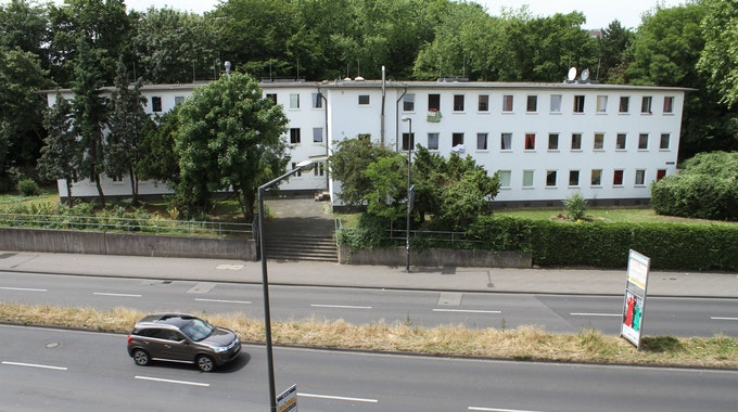 Das Flüchtlingsheim auf der Vorgebirgstraße in Köln.