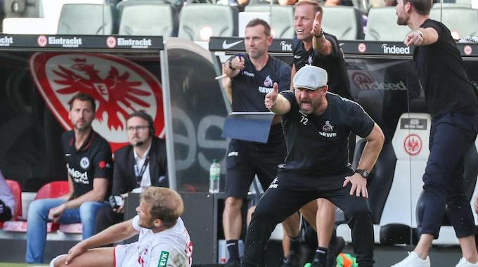 Steffen Baumgart peitscht den 1. FC Köln gegen Eintracht Frankfurt nach vorne.