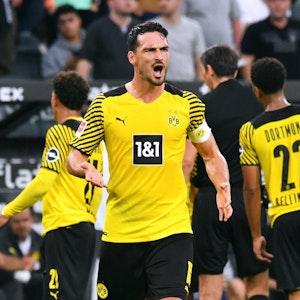 Mats Hummels spielt für Borussia Dortmund gegen Borussia Mönchengladbach.