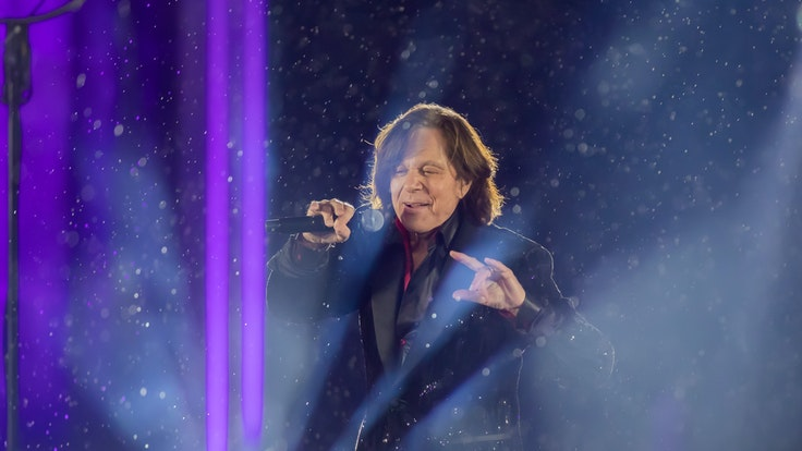 Jürgen Drews, Schlagersänger, tritt bei der ZDF-Silvestershow «Willkommen 2021» am Brandenburger Tor auf.