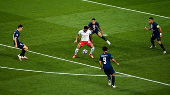Leipzigs Christopher Nkunku gegen hat schon öfter gegen Ex-Klub Paris gespielt.