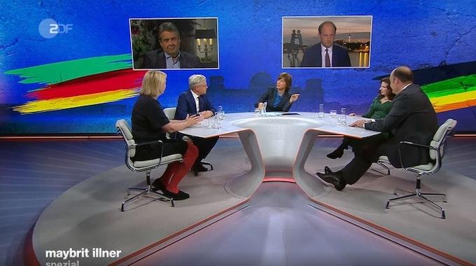 """Die Spezialausgabe der ZDF-Talkshow """"maybrit illner"""" beschäftigte sich am 26. September nach der Bundestagswahl mit möglichen Koalitionsbildungen."""