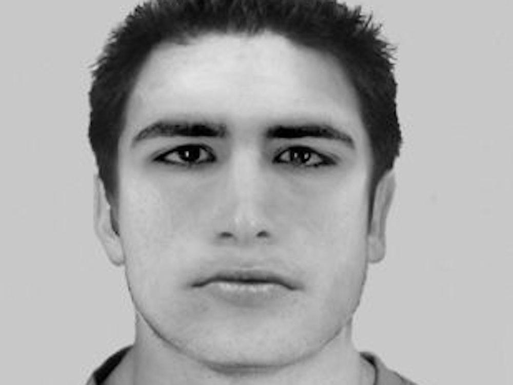 Das Phantombild zeigt einen noch unbekannten Mann, mit kurzen schwarzen Haaren.