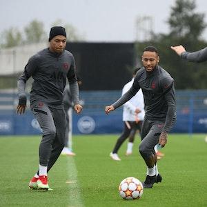 Training bei Paris St. Germain mit Lionel Messi, Neymar und Kylian Mbappé.