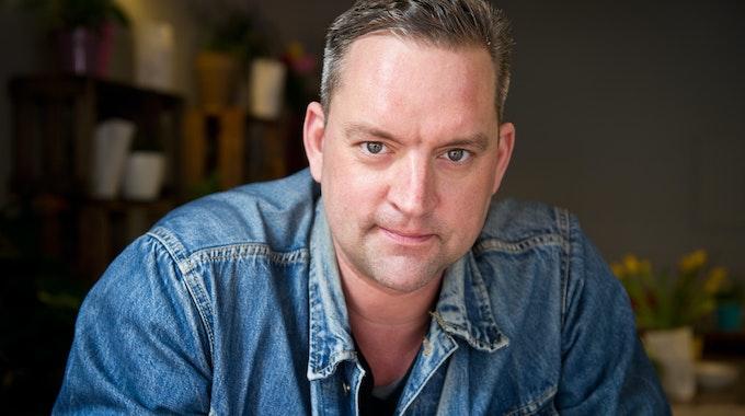 Der Schauspieler und Gastronom Christian Kahrmann posiert am 08.04.2014 in Berlin.