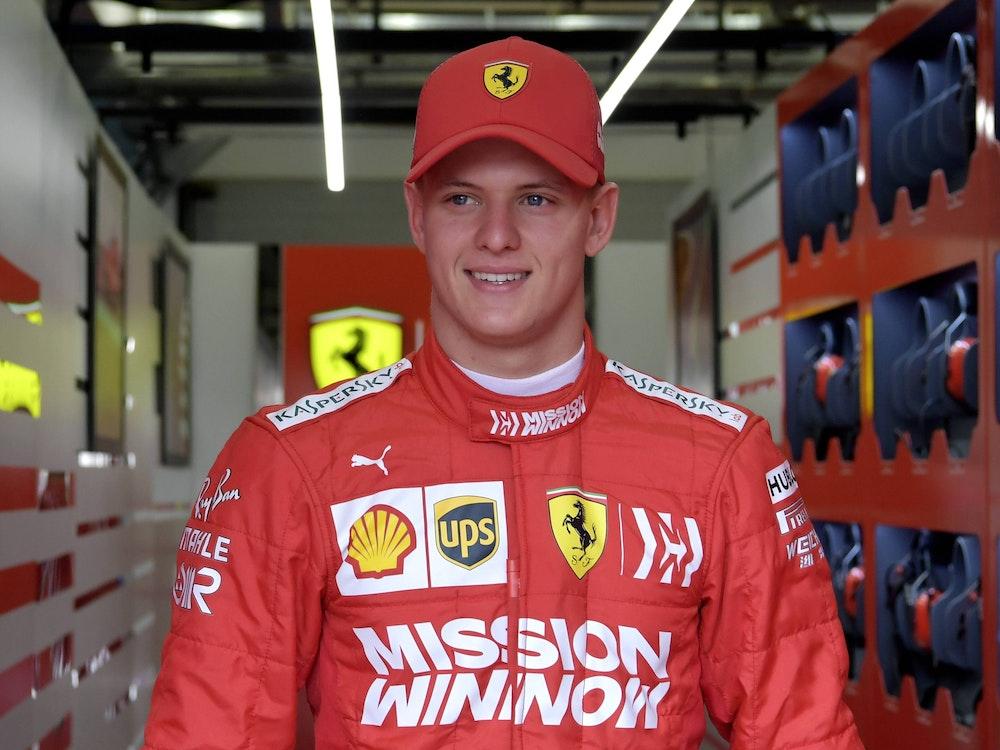 Mick Schumacher als Testfahrer von Ferrari in Bahrain.