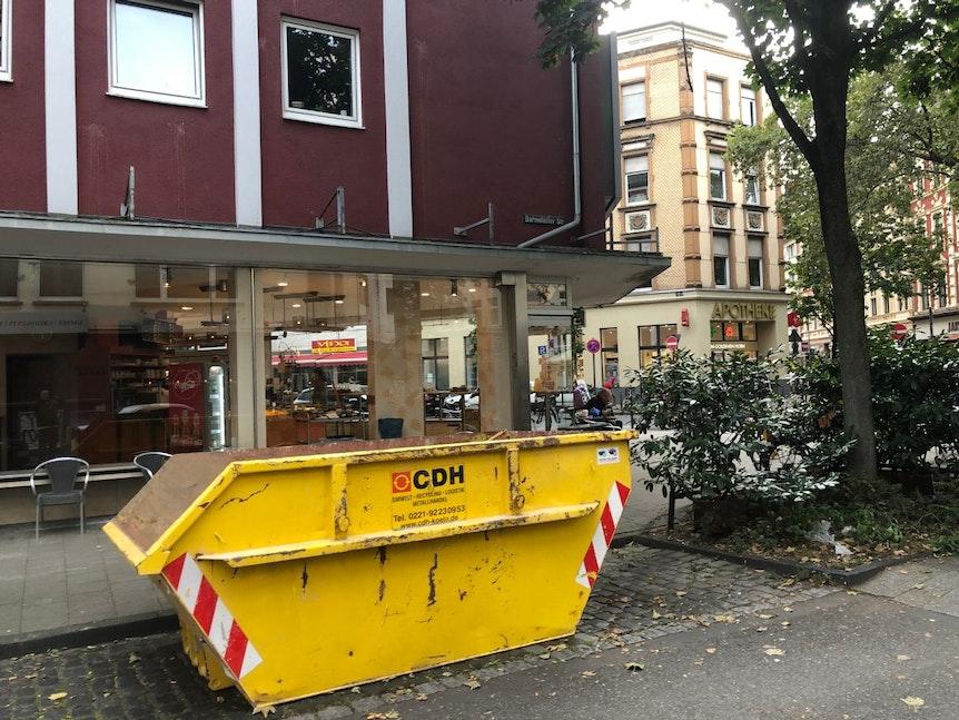 Bäckerei Hütten in der Kölner Südstadt am letzten Tag.
