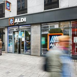 Der Hersteller des Aldi-Waschmittels Tandil hat Insolvenz angemeldet. Das Foto zeigt eine Filiale am 5. Juli 2021 in Düsseldorf.