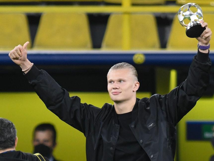 Champions League: Erling Haaland (Borussia Dortmund) mit Auszeichnung.