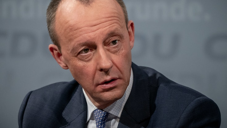 Friedrich Merz (hier im Januar 2021) geriet bei einem Partei-Treffen der CDU mit Ralph Brinkhaus heftig aneinander.