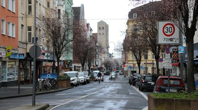 Ansicht der Straße Deutzer Freiheit in Köln
