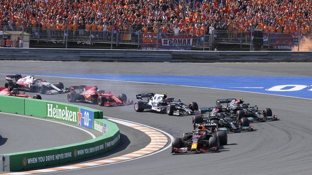 Das Fahrerfeld der Formel 1 am 5. September beim Grand Prix in Zandvoort.