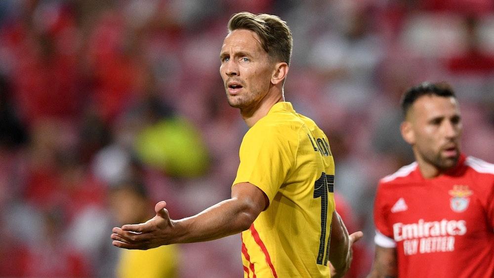 Luuk de Jong lamentiert nach einer vergebenen Chance bei der CL-Blamage des FC Barcelona