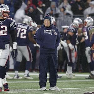 Tom Brady und Bill Belichick gemeinsam bei den New England Patriots.