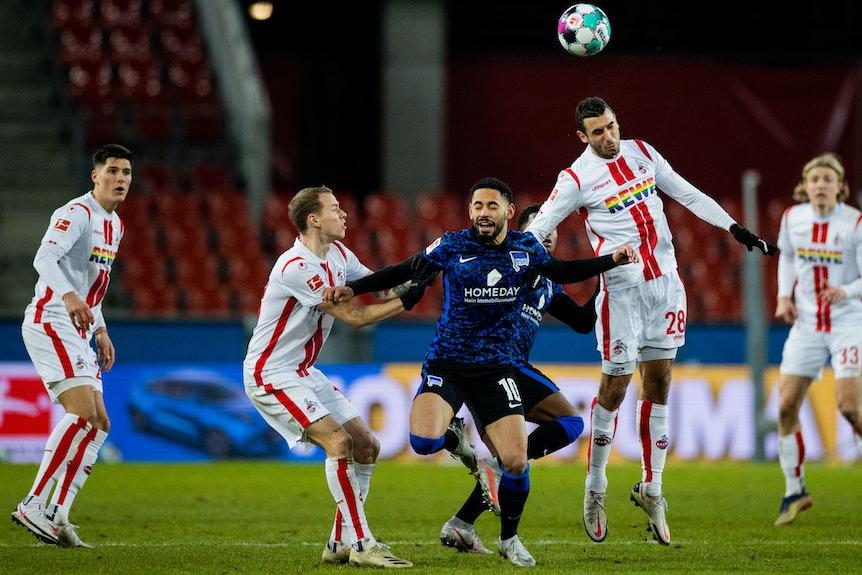 """""""Wir sind alle keine Lämmer auf dem Sportplatz"""": Kölns Trainer über Herthas Matheus Cunha."""