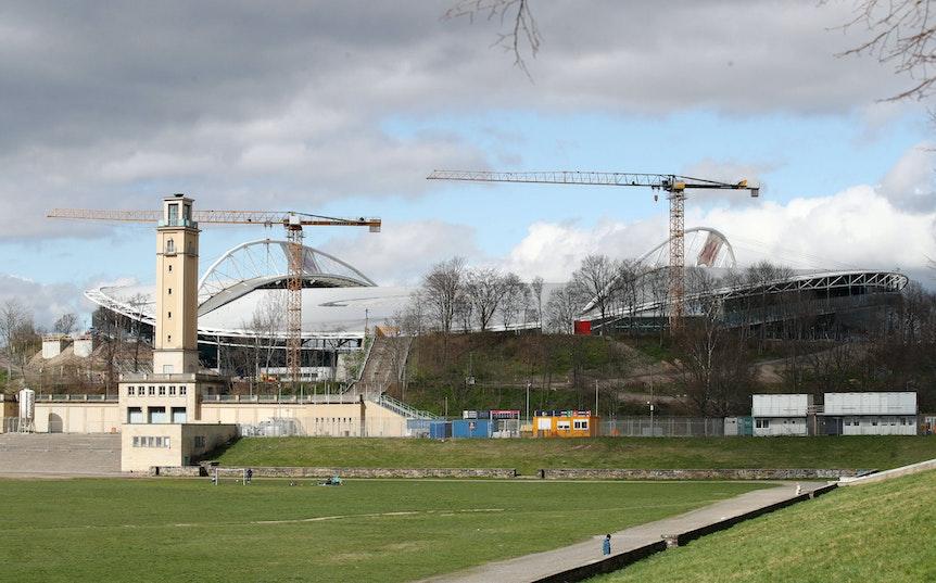 Das Stadion von RB Leipzig ist seit 2019 eine Großbaustelle.