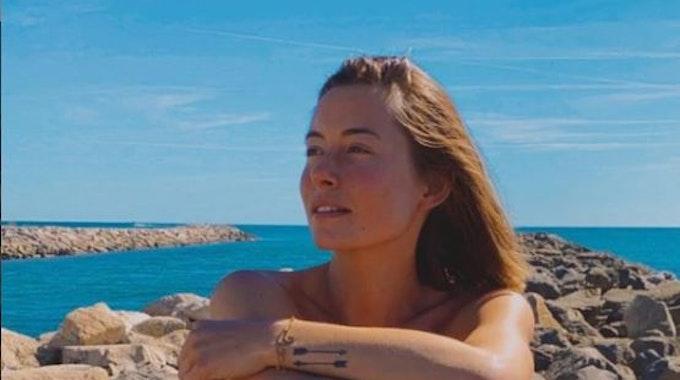 Jennifer Lange genießt ihren Urlaub im September 2021 in Südfrankreich.
