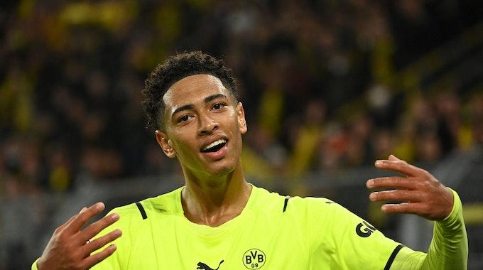 Dortmunds Jude Bellingham beim Spiel gegen Sporting Lissabon.