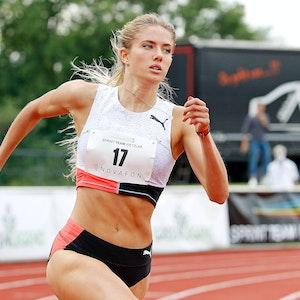 Leichtathletik-Star Alica Schmidt läuft in Wetzlar.