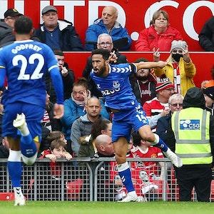 Andros Townsend jubelt für Everton.