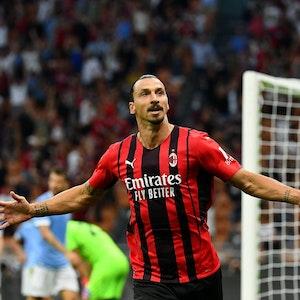 Zlatan Ibrahimovic jubelt.