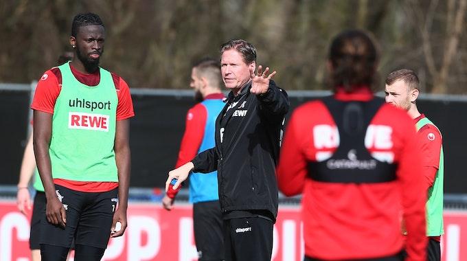 Tolu Arokodare trainiert beim 1. FC Köln unter Markus Gisdol.