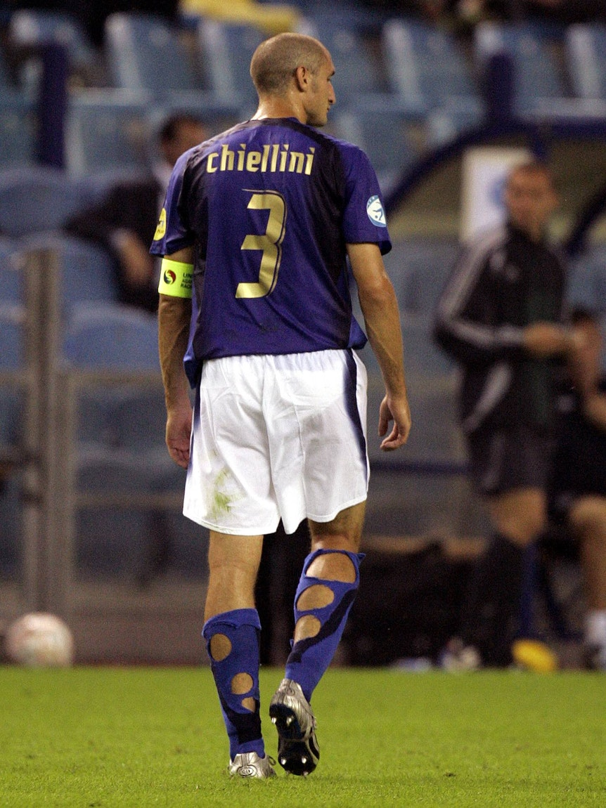Giorgio Chiellini steht auf dem Spielfeld