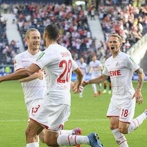 Florian Kainz, Ellyes Skhiri und Ondrej Duda spielen für den 1. FC Köln gegen Eintracht Frankfurt.