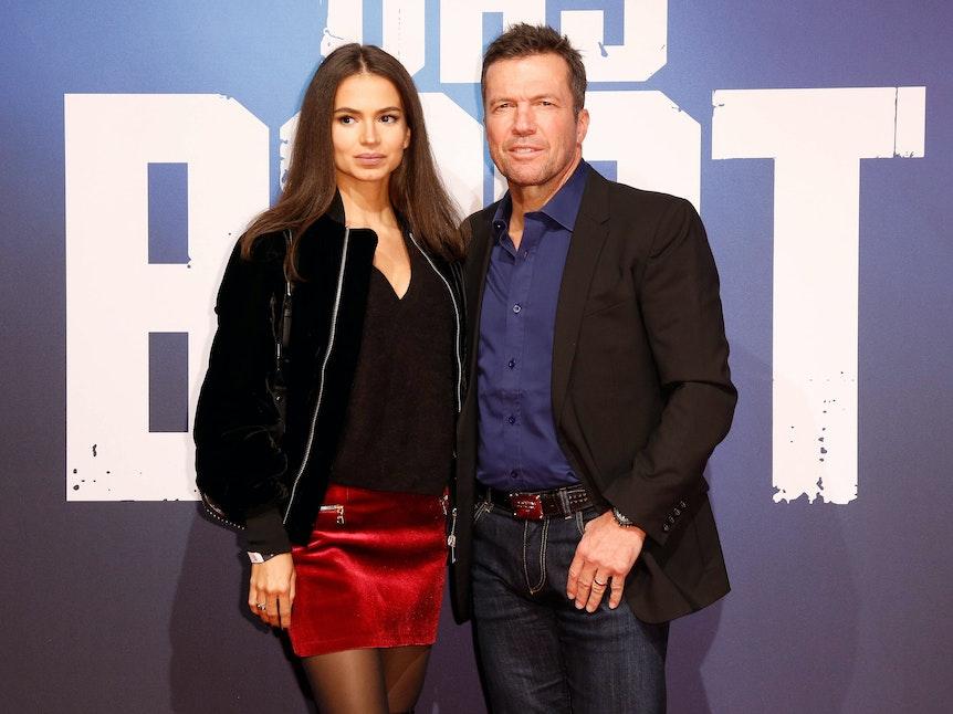 Lothar Matthäus und Anastasia bei der Weltpremiere der Sky Serie Das Boot auf dem roten Teppich.