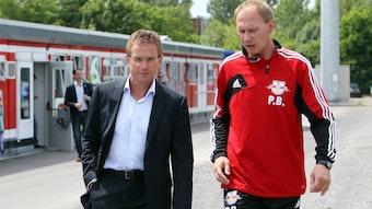 Da waren sie noch Familie: Ralf Rangnick und Perry Bräutigam 2012 kurz nach Rangnicks Amtsübernahme bei RB Leipzig.