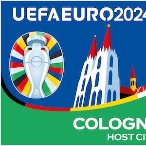 5. Oktober 2021: Der DFB enthüllt das Logo für die EM 2024 im eigenen Land. Auch Köln erhält ein eigenes Logo. Bild für die Berichterstattung rund um das Turnier frei verwendbar.
